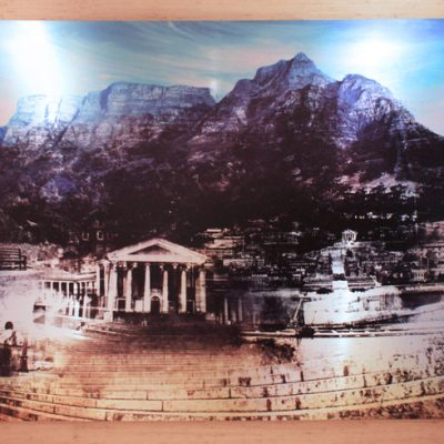 Commissioned work by PPS Investments - landscape with Table Mountain and the university